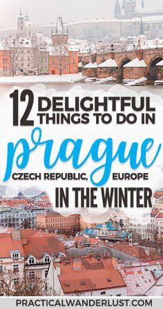 Prague in the winter is a romantic, snowy Christmas fairytale. Plus, the Christmas Markets stay open after New Years! You'll definitely want to Czech out (EYYYY) all of these delightful things to do in Prague in December and January. #EuropeTravel #Prague #WinterTravel