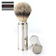 #Men's #shaving #brush best travel #shaving #brush with silver tip badger hair,  View more on the LINK: http://www.zeppy.io/product/gb/2/181328138088/