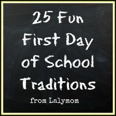 First Day of School Traditions Photos Crafts and Food from Lalymom