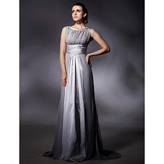 Stretch Satin Chiffon Sheath/Column Sweep Train Evening Dress inspired by Jane Adams at Golden Globe  – USD $ 149.99 Gorgeous!