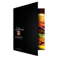 Heritage Fare Specialty Food Presentation Folder #Restaurant #Design #GraphicDesign #HeritageFare