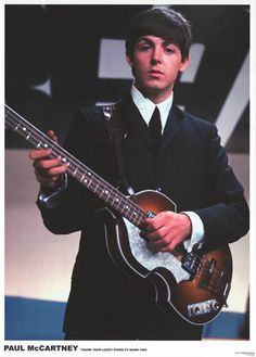 A great poster of Paul McCartney of The Beatles with his famous Hofner bass on the Thank Your Lucky Stars TV show in 1964! Ships fast. 24x33 inches. Check out the rest of our FABulous selection of Bea