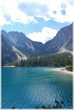 Braies lake in Bolzano, Italy