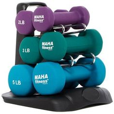 Maha Fitness Dumbbell Set with Stand - Set (aff link) Fitness Goals, Fitness Tips, Fitness Motivation, Health Fitness, Gym Workouts, At Home Workouts, Workout Gear, Arm Toning Exercises, Most Effective Diet