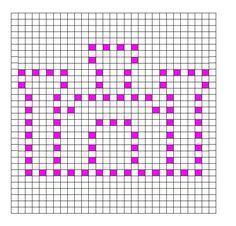 Ravelry: Castle Bobble Chart by Kari Philpott
