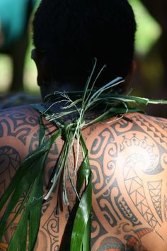 Polynesian tattoos are full of symbolic meaning and vary from an island to another. Would you ever get one done here? Credit: G. LeBacon
