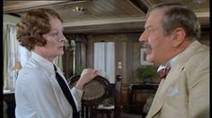 """Maggie Smith and Peter Ustinov, """"Death On The Nile"""", English Actresses, British Actresses, Actors & Actresses, Peter Ustinov, Maggie Smith, Companion Of Honour, Death On The Nile, Olivia Hussey, Miss Marple"""