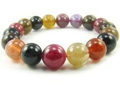 BA5111 Multicolors Tourmaline Natural Crystal Stretch Bracelet - See more at: http://waggashop.com/wagga-shop-ba5111-multicolors-tourmaline-natural-crystal-stretch-bracelet
