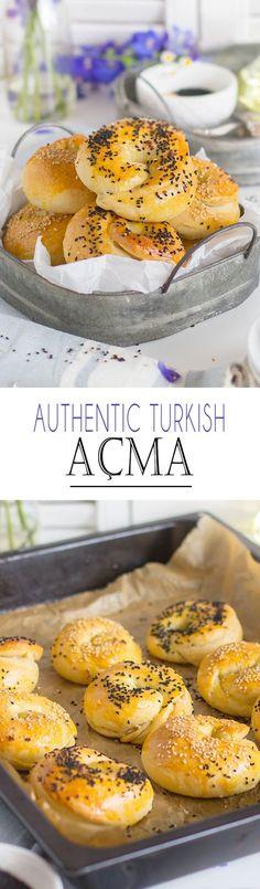 Authentic Turkish Acma Rolls with Feta Cheese   Türkische Acma Brötchen mit Schafskäse Füllung
