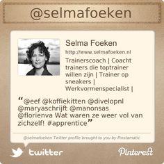 @Selma Foeken  Twitter profile courtesy of @Pinstamatic (http://pinstamatic.com)