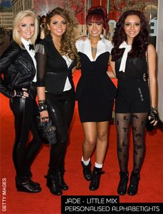 Little Mix - Jade wears personalised Alphabetights