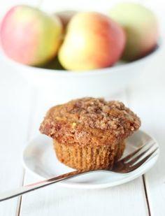 100% Whole Grain Cinnamon Apple Muffins | Texanerin Baking