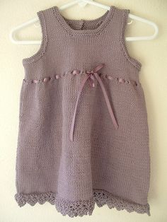 Dress with Eyelets (Debbie Bliss knitting pattern).