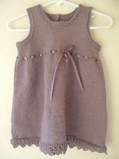 Dress with Eyelets (Debbie Bliss knitting pattern).