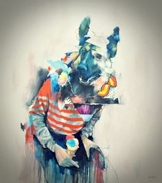 Animal Instinct – Illustrations by Joram Roukes (18 Pictures) > Illustrationen, Paintings > animals, art, buildings, city, collages, illustrations, joram roukes, oil painting, paintings