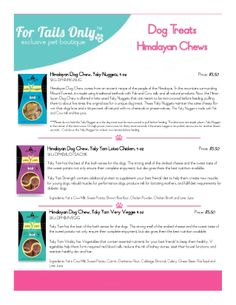 #fortailsonly Dog Treats | Himalayan Chews | Stacie Marshman Founding Handler FH100 | www.fb.com/paradisepetboutique