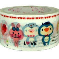 Kawaii masking deco tape 15M Loving animal by scrapbooksupply, $3.20