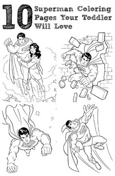 20 Simple Superman Coloring Pages Your Toddler Will Love Superman Coloring Pages, Coloring Pages For Kids, Superman 2, Page Online, Play Therapy, Diy Garden Decor, Business For Kids, Small Groups, Free Printables