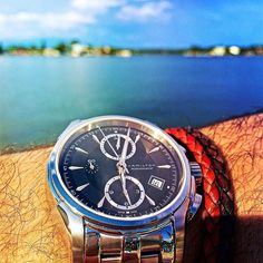 Having some dinner by on the water  #hamilton bracelets by @kingmark9 #kingkords by watchdisplay