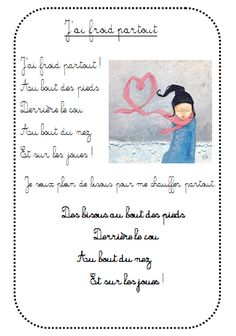 J'ai froid partout French Poems, French Phrases, Read In French, Learn French, French Teacher, Teaching French, French Education, Kids Education, Kindergarten Songs