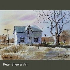 "https://flic.kr/p/r6XhgH | I love this little painting, but seem to be alone in thiscregard. Miniature Rural landscape. 2.5x""x3.5"". Sold on auction at www.ebay.ca/usr/sheelerart #art #artist #original #watercolor #watercolour #miniature #painting #aceo #ebay #paintingaday #ink #pen 