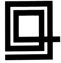 """Il marchio disegnato nel 1952 da Marcello Nizzoli, una spirale quadrata, esprime l'idea, secondo le parole dello stesso Nizzoli, di """"inizio senza fine"""", quasi a rappresentare la fase di forte sviluppo dell'azienda. Viene impresso per la prima volta sulla macchina per scrivere Studio 44. Il simbolo, utilizzato fin verso la metà degli anni '60, poteva essere accompagnato da una piccola """"o"""" in alto a sinistra, oppure dal logotipo Olivetti."""