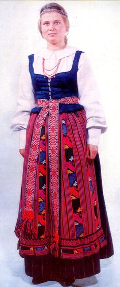 Zanavykai region folk costume, Lithuania