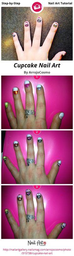 Cupcake Nail Art by ArrojoCosmo Nail Art Gallery Step-by-Step Tutorials nailar . - Cupcake Nail Art by ArrojoCosmo Nail Art Gallery Step-by-Step Tutorials nailar … – - Spring Nail Trends, Spring Nails, Nail Art Hacks, Gel Nail Art, Winter Nail Designs, Nail Art Designs, Nails Design, Cupcake Nail Art, Nail Art For Kids