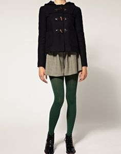ASOS 80 Denier Green Tights - StyleSays