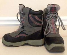 Airwalk snowboard boots Thermolite men's teens 5 womens 7 gray black  #Airwalk