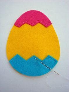 Tutorial: Felt Easter Egg. Template too!