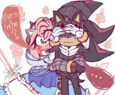 Search 'Shadamy' on DeviantArt - Discover The Largest Online Art Gallery and Community Shadow And Maria, Shadow And Amy, Sonic And Shadow, Shadow Art, Sonic The Hedgehog, Shadow The Hedgehog, Amy Rose, Shadamy Comics, Sonic Fan Characters