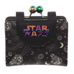 Disney Star Wars Galactic Metall Logo Silber Portemonnaie Geldbörse