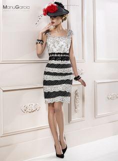 #vestidodelasemana #coctel #blanco #negro