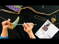 Learn to Crochet with Double End Hook and Red Heart - Part 1