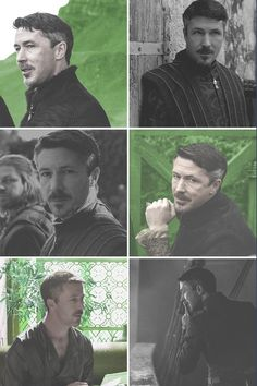 Petyr Baelish + colour (silver and green).