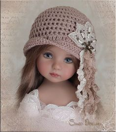 SAND DOLLAR Hat for Effner Little Darling Mini Fe Ellowyne Prudence BJD by Linda