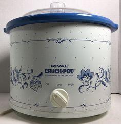 Pressure Cookers For Sale, Slow Cooker Pressure Cooker, Crock Pot Slow Cooker, Rival Crock Pot, Crock Pots, Online Deals, Vintage Kitchen, Blue Flowers, Thrifting