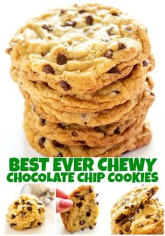 Best Ever Chewy Chocolate Chip Cookies - soft, chewy and just like what you would get from a corner bakery but better because they come straight from your oven. #cookie #chocolatechip #chocolatechipcookies #bestcookierecipe