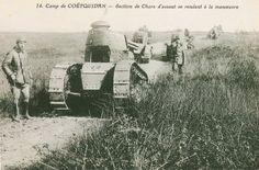 Carte Postale Postcard 1914-1918 Coëtquidan Section de chars d'assaut Coëtquidan Section of tanks | Flickr - Photo Sharing!