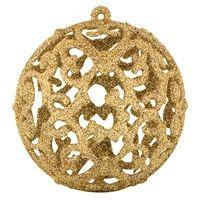 6 εκ - Χριστουγεννιάτικες Μπάλες Χρυσές 6 τμχ. < Στολισμός Δέντρου