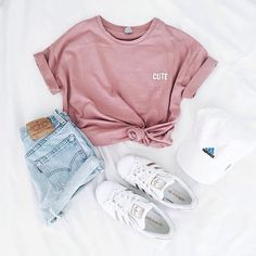 via weheartit Yseult Delcroix - Mode, Outfit und adidas - Outfit - Modetrends Teenage Outfits, Komplette Outfits, Tumblr Outfits, Teen Fashion Outfits, Cute Casual Outfits, Spring Outfits, Womens Fashion, Fashion Clothes, Tumblr Clothes