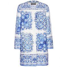 Dolce & Gabbana - Printed jacquard coat