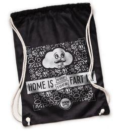 Kane Grey | Little Farty - Turnbeutel | online kaufen!   #superfresh #kanegrey #goodvibes #summercollection #matchbag #homeiswhereyourheartis #home #heart #fart