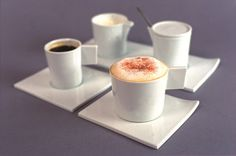 FIN collection coffre cups from studio Pieter Stockmans, Belgium   ceramic