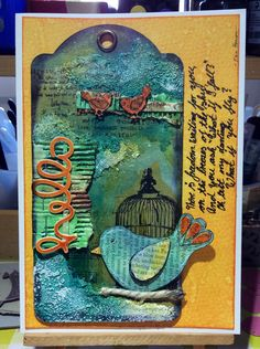 Mixed media card by kidmandesign