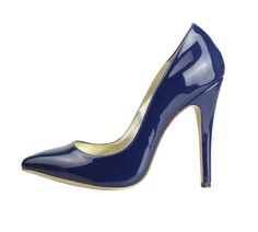 GAGA / Sexy shining Blue pointed toe high heel pumps leather designer women shoes