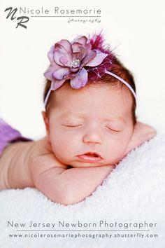 Baby Headband - Newborn Headband - Toddler Headband - Purple Flower Headband - Lavender Flower Headband - Dainty Flower Headband. $9.95, via Etsy.