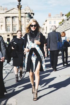 Yep, #JoannaHillman. You've got some long legs and the dress to show them  off. Paris.