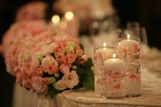 my-wedding♡ハピネス色の会場装花①メインテーブル